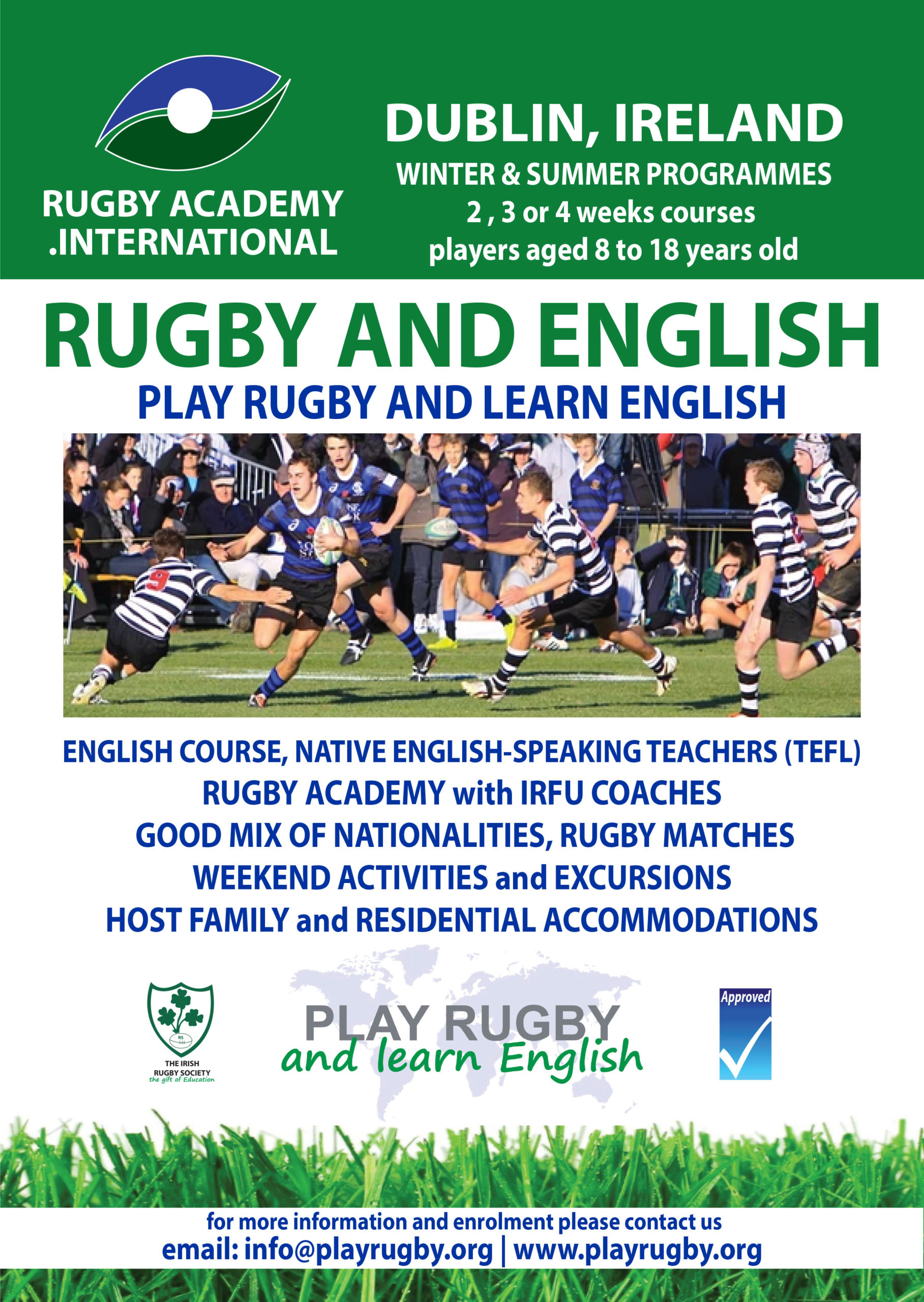 rugby training courses dedicated to young players
