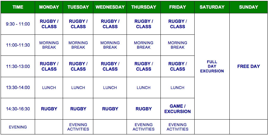 English and Rugby Summer Camps, Play Rugby and learn English