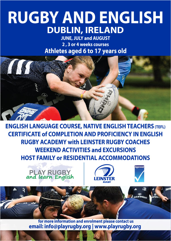 Rugby and English with Leinster Rugby